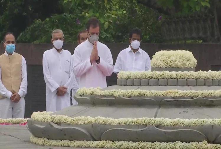 राजीव गांधी की 77वीं जयंती: राहुल गांधी ने पिता को किया नमन